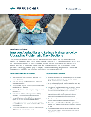 Improve Availability and Reduce Maintenance by Upgrading Problematic Track Sections