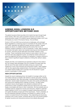 AIMING HIGH: LONDON ILS OPPORTUNITIES BEYOND 2020