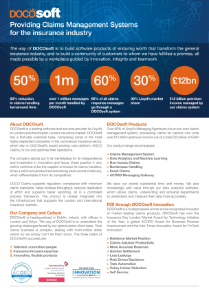 DOCOsoft   Providing Claims Management Systems for the insurance industry