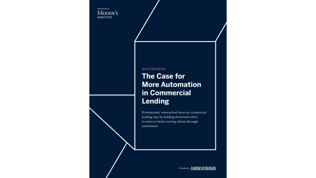 The Case for More Automation in Commercial Lending