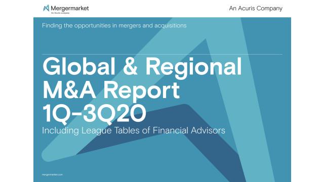 Global & Regional M&A Report 1Q-3Q20 Including League Tables of Financial Advisors