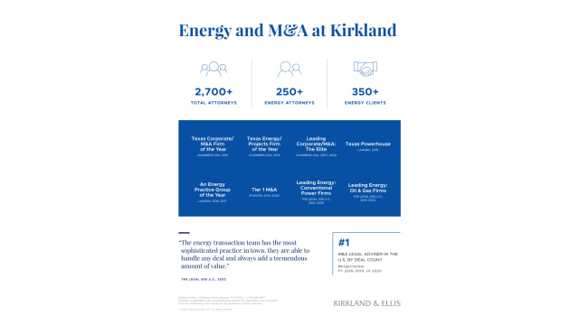 Energy and M&A at Kirkland